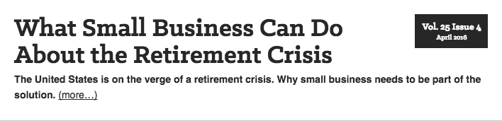 Thinking Bigger Business asks Steve Soden about retirement crisis